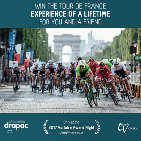 Win the Tour de France Experience of a lifetime for you and a friend. Voltaire2017 auction bid